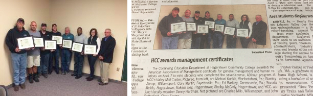 HCC Awards Management Certificates