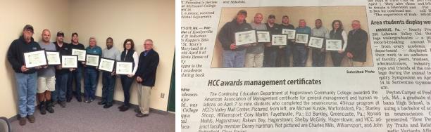HCC Awards Management Certificates
