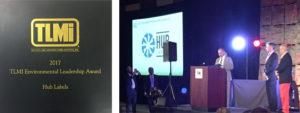 Hub Labels Wins 2017 TLMI Environmental Leadership Award