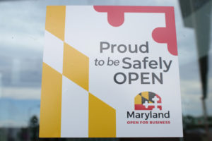 Window Cling: Proud to Safely Open