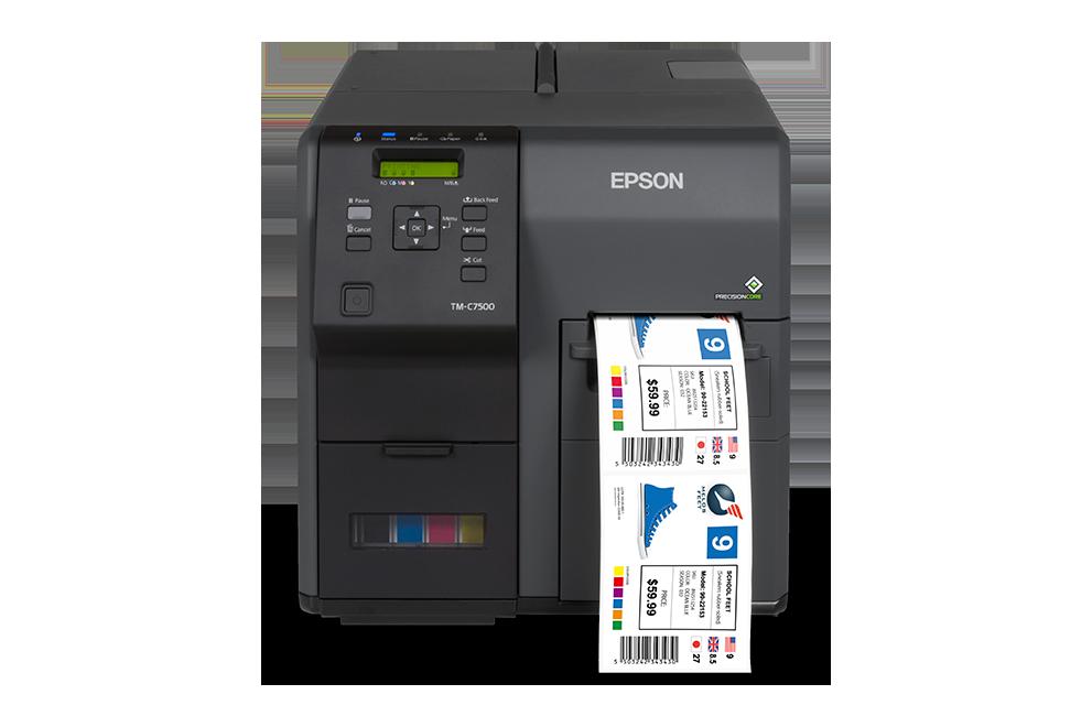 Epson C7500 label printer