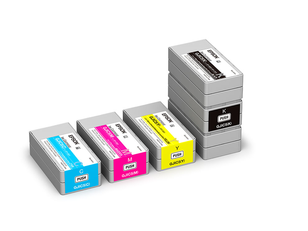 Epson Colorworks Ink packages