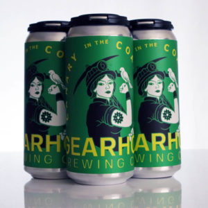 A four-pack of Gearhouse Brewing Co cans of Canary in the Coal Mine